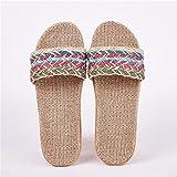 JUSTMAE Zapatillas de Lino Natural, Sandalias de Mujer, cómodas y...