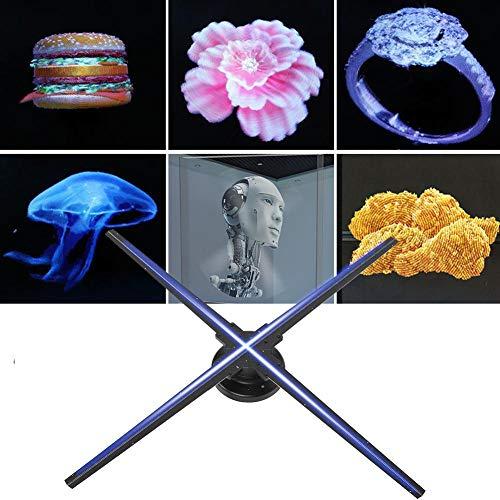 Rosvola 3D Hologram Advertising Display LED Fan, 1024 * 1024 HD 28in Diámetro WiFi Proyector holográfico para Centro Comercial, Bar, Pantalla de Eventos de Vacaciones, etc.(UE)