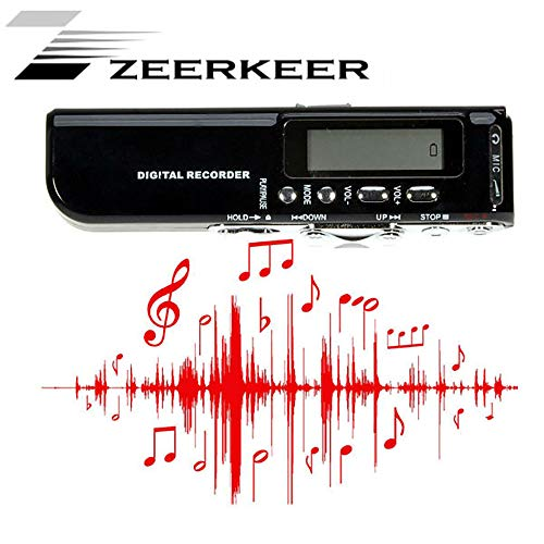 Zeerkeer Mini Draagbare Digitale Recorder Professionele 8 GB Digitale Audio Recorder met MP3-speler Auto Power On/Off Functie voor lezingen/conferenties/interviews