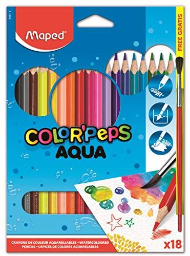 Maped M836012 - Buntstifte Color Peps Aquarelle, 18er Packung