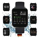 """SOUCCESS FITNESSUHR MIT Full Touch Bildschirm, SMARTWATCH Always ON Bildschirm, FITNESSTRACKER, PULSMESSER, SCHRITTZÄHLER FÜR Frauen UND MÄNNER, GROSSES 1.54"""" Bildschirm, IOS/Android, 3ATM WASSERDICHT, IP68"""