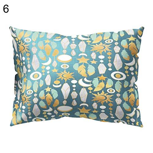 Preisvergleich Produktbild PINBinyee 30 x 50 cm Jeanette Blatt Blumen Tier Kombination Traum-Stil Farbe passende Kissenbezug Sofa Bettwäsche 6