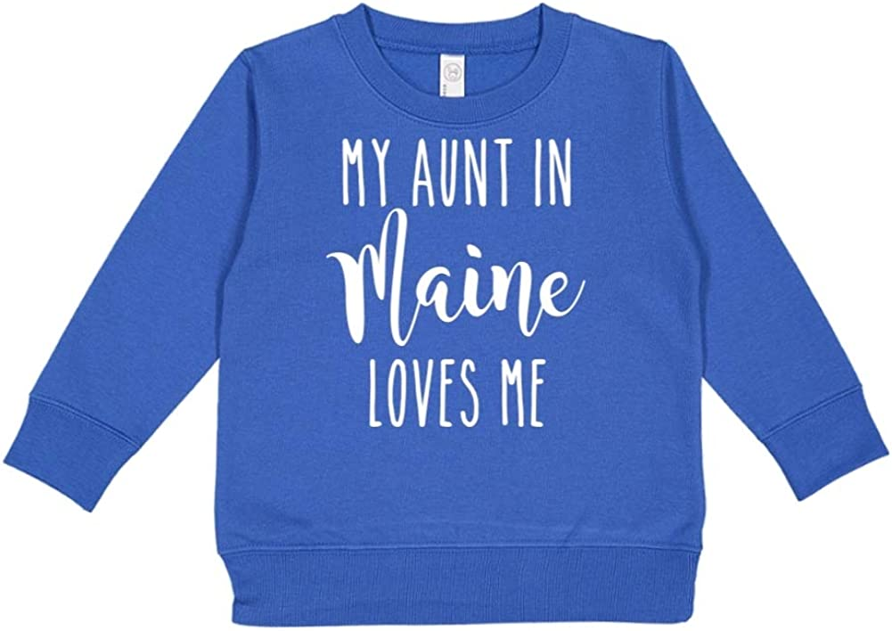 My Uncle in Maine Loves Me Toddler//Kids Sweatshirt Red 5//6T