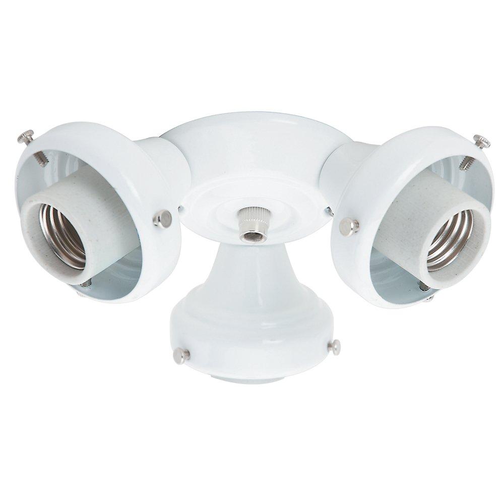 Hunter 99135 Three Light Fitter- White