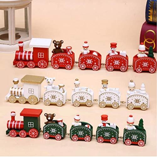 TOSSPER Red Trenino Lare Del Treno Di Legno Decorazione Di Natale San Valentino Regalo Di Capodanno Forniture Decorazione Di Natale A Casa