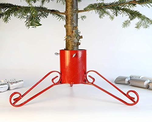 Support Pied Arbre De Noël Stand 10,2 cm Bosmere G450 Paillettes Rouge