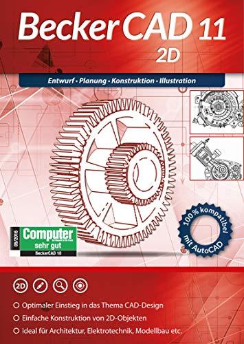 BeckerCAD 11 2D Architektur, Maschinenbau, Elektrotechnik, Modellbau CAD Programm, Software für Windows 10 / 8.1 / 8 / 7 / XP