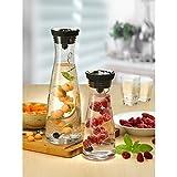 WMF Basic Wasserkaraffe Set, 3-teilig, Karaffe mit 2 Fruchtspieße (18 und 24 cm), Glas-Karaffe 1,0l, Höhe 29 cm, Silikondeckel, CloseUp-Verschluss, - 11
