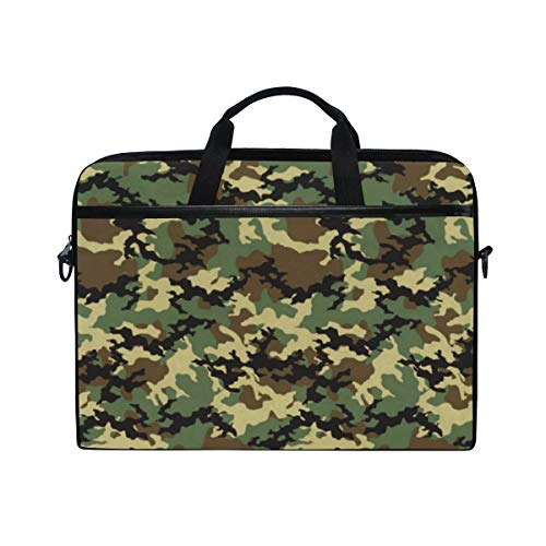 DOSHINE Laptop Bag Case Sleeve Camo Camouflage Abstract Notebook Computer Bag for 14-14.5 inch Adjustable Shoulder Strap, Back to School Gifts for Men Women Boy Girls