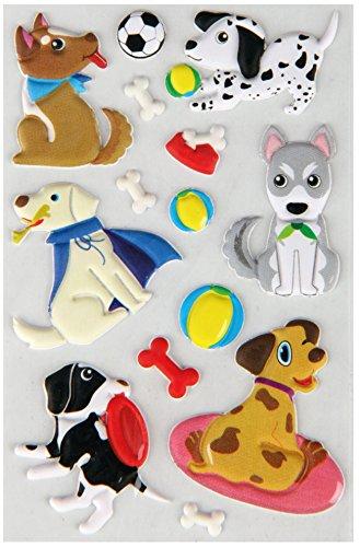 Bestlivings lustige und Niedliche Sticker zum Aufkleben, Stickerbögen mit Tieren, in vielen verschiedenen Motiven verfügbar (Design: Hunde 1)