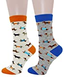 COCO TOE® Damen Socken H&e Motive Dackel Socken Dog Socks (OneSize, WW001)