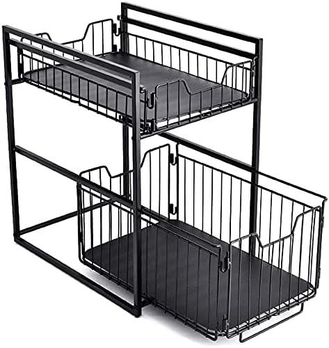 Sliding Cabinet Organizer Basket Kitchen Layer Double Drawer St Elegant Max 69% OFF