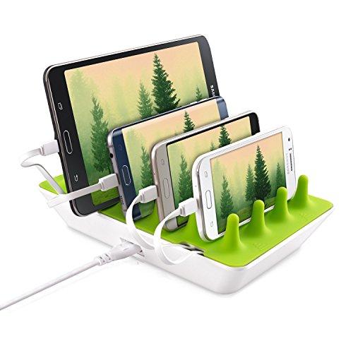 Gelid Solutions Zentree - USB-Ladestation, Große Powerbank mit 4 USB-Ports, USB-Ladegerät für Smartphone, Tablet & Smartwatch, EU-Stecker & US-Stecker, Schnelles Laden für mehrere Geräte