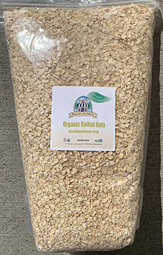Bakery On Main Happy Oats 7.5 Pound Resealable Bag (Pack of 2), Organic Rolled 240 Ounce