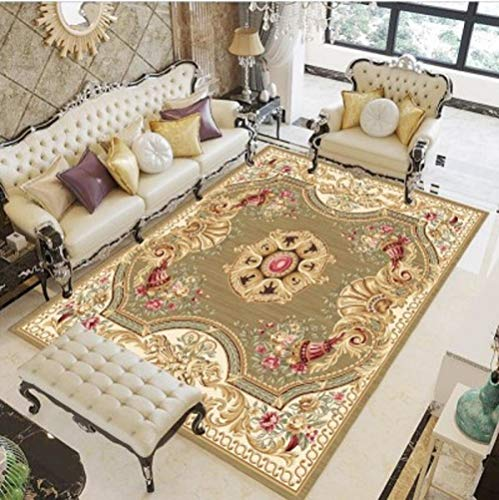 HPPSLT areaRugsLivingRoomDecorativecarpet-Classical 3D Art Carving in Study Room Washable Low Pile Area Carpet-40x60CM