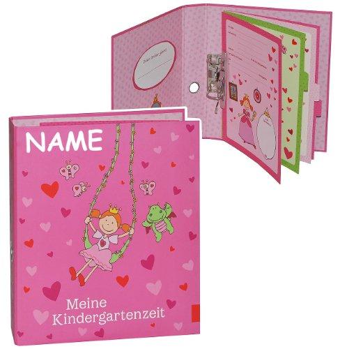 Ringbuch / Sammelordner -  Meine Kindergartenzeit  incl. Name - Album - Kindergarten / Dokumente A4 - Prinzessin Freunde - Photoalbum / Kinderalbum / Ordner..