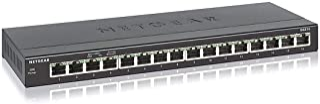 NETGEAR 16-poorts Gigabit Ethernet Unmanaged Switch (GS316) - bureau- of wandmontage, stille werking