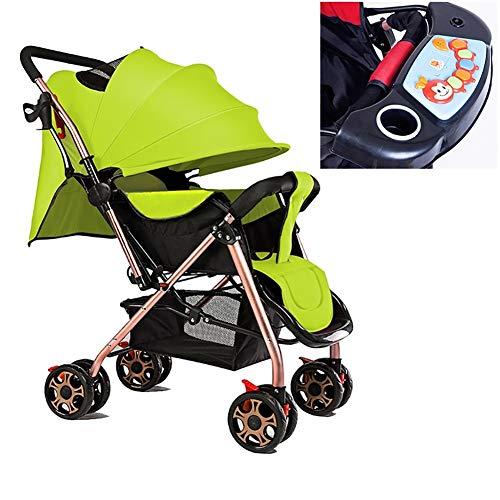 Poussettes Bébé, Chariot Pliable Buggy Ultraléger Léger 0/1-3 Ans Chariot Enfant Portable Simple avec Assiette Dîner