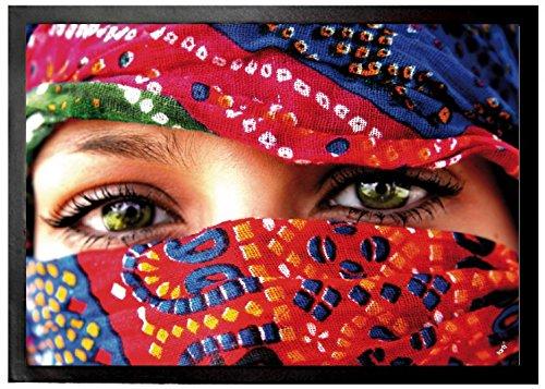 1art1 Mujeres - Ojos Árabes Felpudo Alfombra (70 x 50cm)