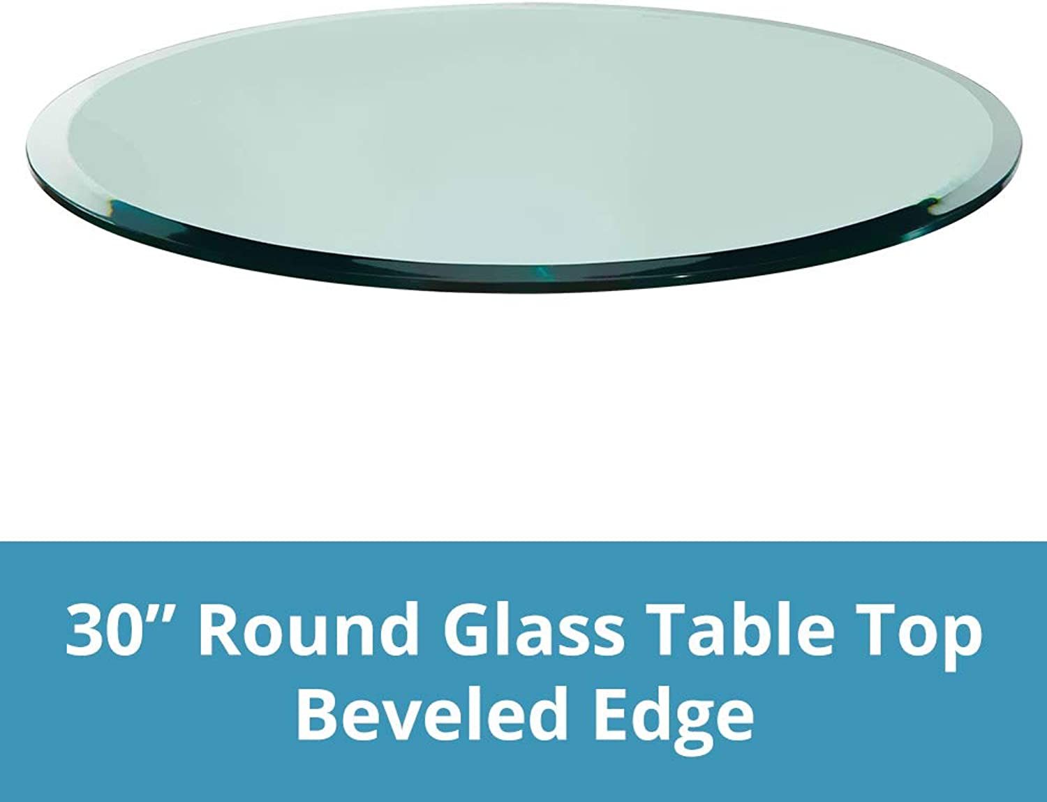 Round Glass Table Top, 1 2  (12mm) Thick, Beveled Edge, Tempered Glass (30 Inch)