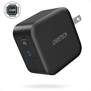 USB C Charger, CHOETECH 61W Power Delivery Fast Charger [PD 3.0 & GaN Tech] Type C Foldable Wall Charger Compatible with iPhone 11/Pro/Pro Max, MacBook Pro/Air, iPad Pro, Dell XPS, Pixel 4 and More