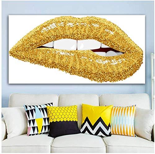 """Surfilter Print auf Leinwand Abstrakt Bunte Sexy Mund Lippen Bilder Leinwand Drucke Dekorative Malerei Wandkunst Wohnzimmer Wohnkultur 19,6""""x39,4 (50x100cm) No Frame2"""