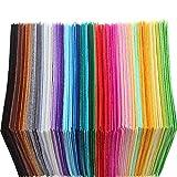 40pcs/Set DIY Colorido Tela de 1 mm de espesor de tela de poliéster fieltro de costura del hogar decoración de la boda de la artesanía de los paños 15x15cm