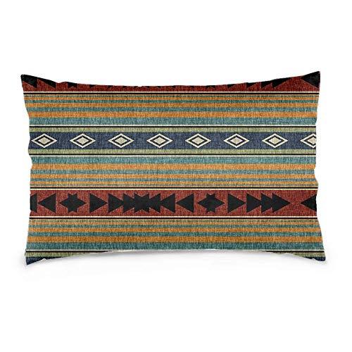 YudoHong Fundas de cojín de lino suaves rectangulares para sofá, dormitorio, decoración del hogar, manta occidental