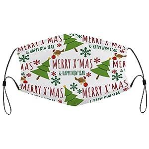 Maschere di stoffa di Natale lavabile maschera riutilizzabile traspirante regolabile bocca copertura per Aldults uomini donne 5PCS