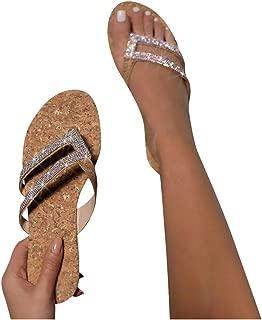 Femme dames été gelée sandales strass talon compensé matelassé chaussures confort taille