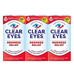 professional Clear Eyes, Redness Relief Eye Drops, 0.5 oz (3 packs)