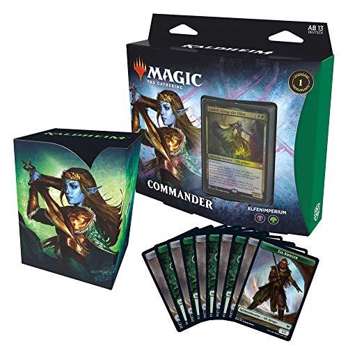 Magic the Gathering C78091000 Kaldheim-Commander Elfenimperium (100 Karten Ready-to-Play Deck), Grün-Schwarz