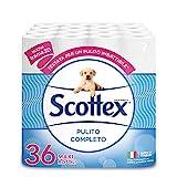 Scottex Pulito Completo Carta Igienica, Confezione da 36 Rotoli Maxi, 3620 Gr