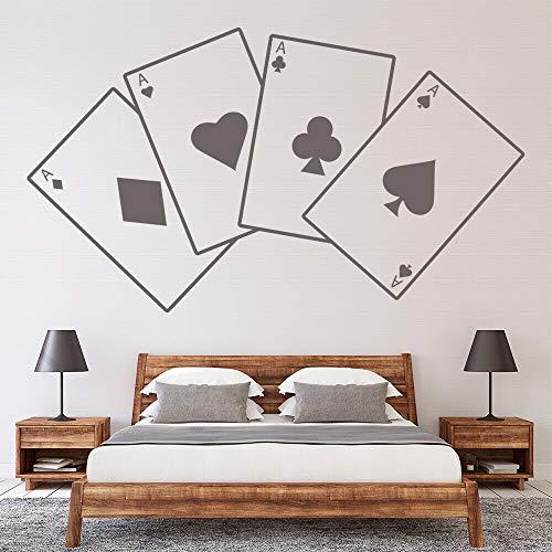 Etiqueta de la pared de póquer Juego de cartas Ace Estilo fresco Etiqueta de vinilo para ventana Dormitorio Hombre Cueva Bar Fiesta Decoración interior Mural creativo