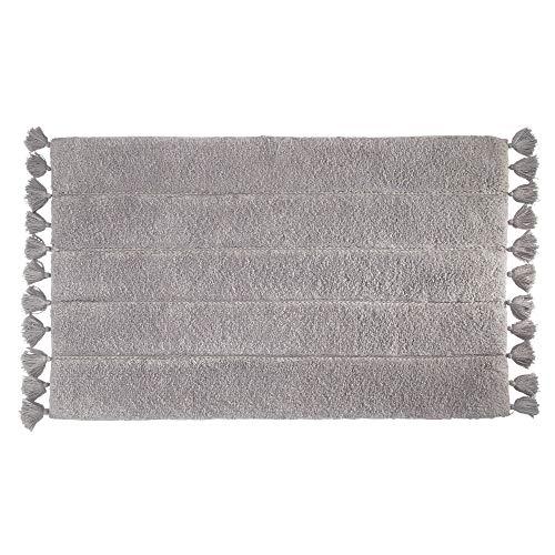 iDesign Tassel Cotton Bath and Shower Mat - 34
