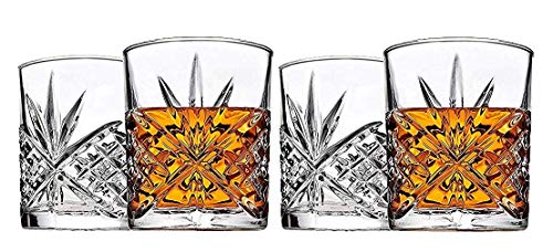 James Scott Double Old Fashioned Glasses, Set of 4, Gift Box