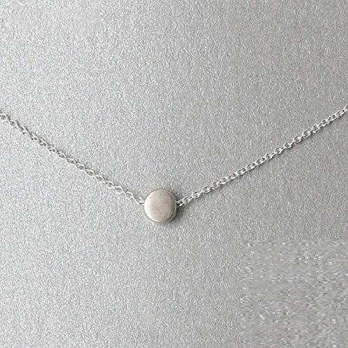 Yiffshunl Collar Glamoroso Femenino Geométrico Colgante de Cuentas Redondas Collar de Alta Joyería Regalos de Oro