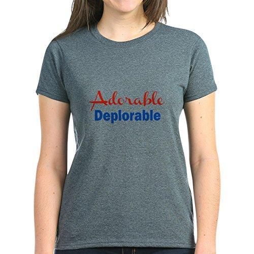 CafePress Adorable Deplorable T Shirt Womens Cotton T-Shirt Charcoal Heather
