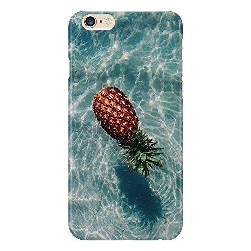 Funda protectora de fruta tropical, piña, verano, diseño minimalista, compatible con iPhone 4/4S/5/5S/5SE/5C/6/6S/6plus/6s Plus, Samsung S3/S3neo/S4/S4mini/S5/S5mini/S6/Note
