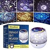 Lámpara Proyector Infantil Estrellas, Lámpara de nocturna Infantiles luz del proyector LED 360 grados rotación,6 color regulable combinaciones para cumpleaños,Navidad, Cuarto de los Niños, Boda