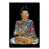 Pknbfw Bunte Drachentätowierung Buddha Zazen Religion