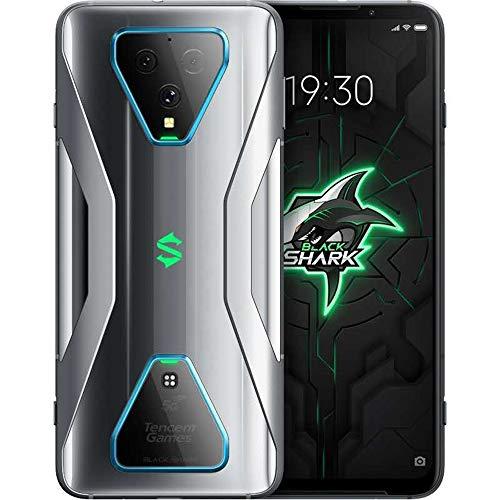 Black Shark Pro 3 Gaming Phone, Teléfono Móvil 5G,6.67 ″DH, Snapdragon 865 Android 10 Desbloqueado, Tasa Informes Táctiles 270HZ, Teléfono Inteligente Triple Cámara De 64MP (12+256GB, Caballero Gris)