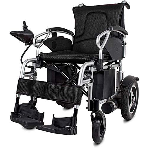 FC-LY Transporte para sillas de Ruedas Plegable Ultra liviano, fácil de Transportar con Control de Joystick de 360 ° de 360 °, sillones eléctricos de Viajes aerolínea.