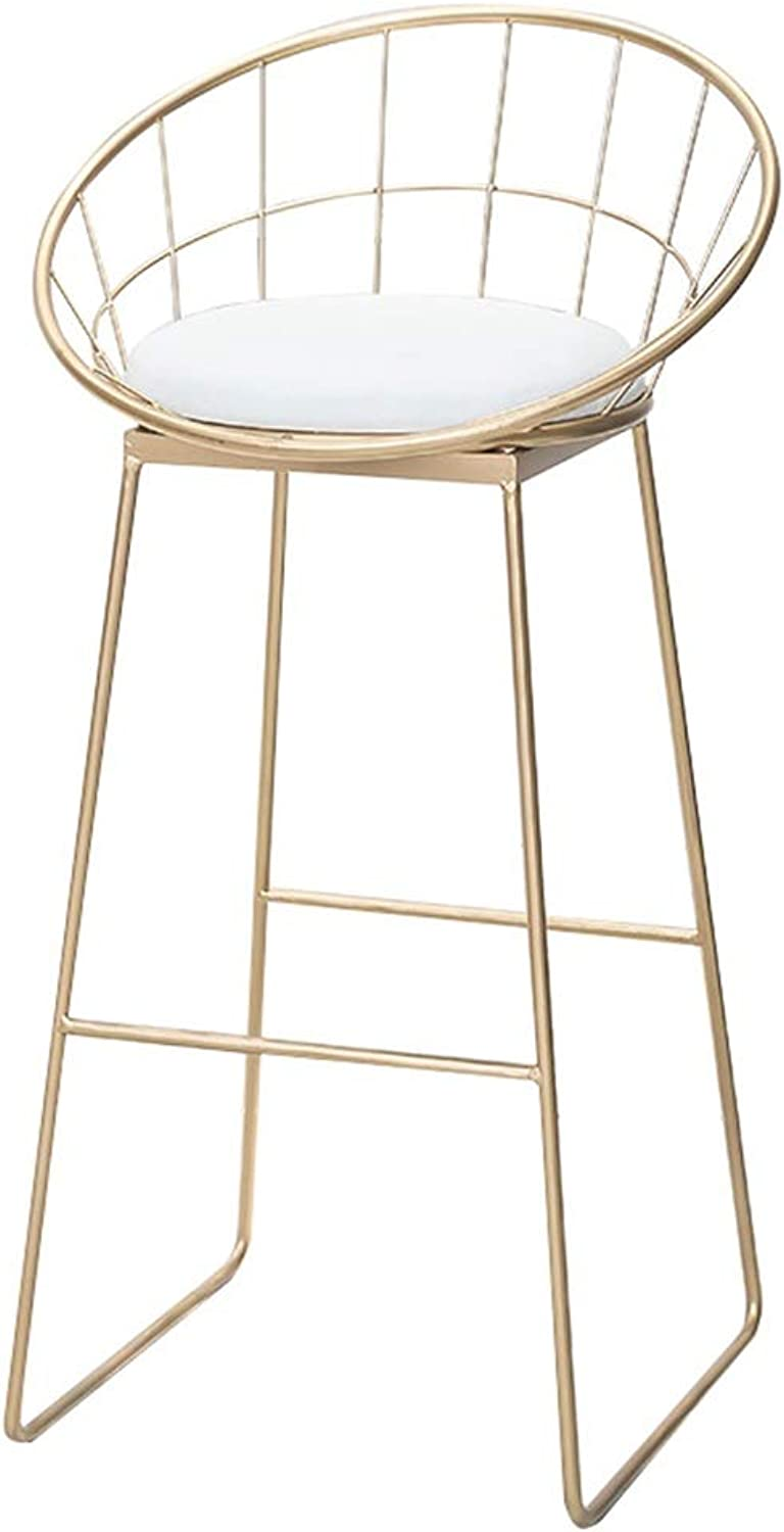 Barstools Chair Footrest High Stool White Upholstered Dining Chairs as Stool for Kitchen   Pub   Breakfast Stool   Metal Legs   Max Load 150kg