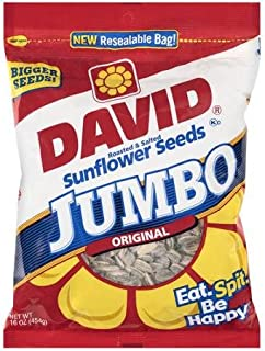 David Sunflower Seed In Shell - Jumbo, 16 Ounce (3 Pack)