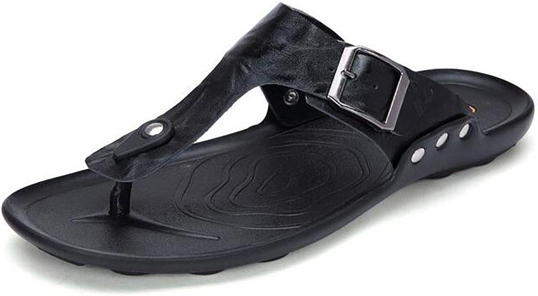 Mens Flip Flops Slip Yoga Foam Summer Stripe Sandals with Arch Support