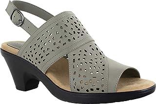 Easy Street Women Sandal,Grey,6.5 N US