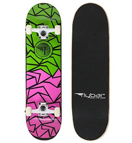 Flybar Kids 'Fraktur komplett Skateboard, Grün/Pink, klein/79cm