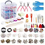 Jewelry Making Kit, 1960 pcs Jewelry Making Supplies Includes Jewelry Beads, Instructions, Findings, Wire for Bracelet, Necklace, Earrings Making, Great Gift for Adults by Inscraft