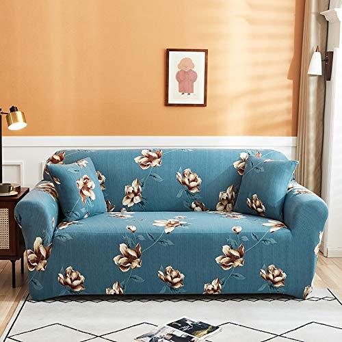 ASCV Stretch-Sofabezug für Wohnzimmer Stretch-Schonbezug Schnitte elastische Couchbezug L-Form Eck-Sesselbezug A17 2-Sitzer